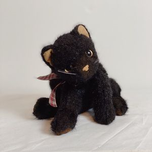 TY Purrecious Beanie Buddy 2002 Black Cat